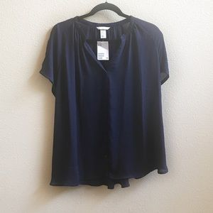 NEW🌟 NWT Navy Button Up Blouse
